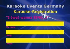 Karaoke Anmeldung Rückseite